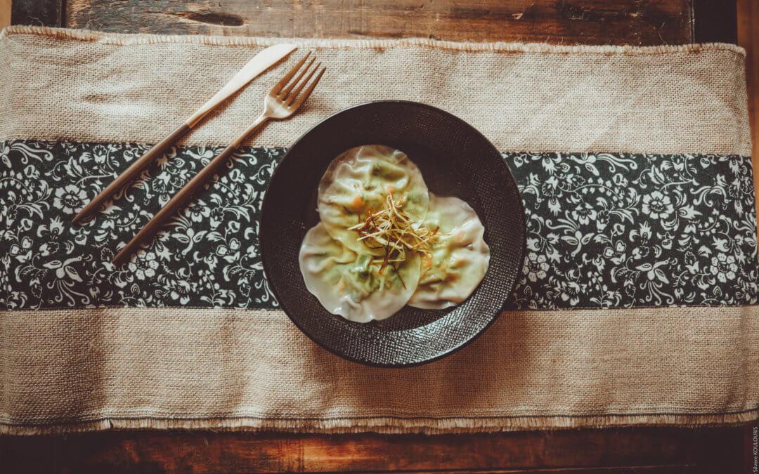 Ravioles végétariennes aux saveurs asiatiques
